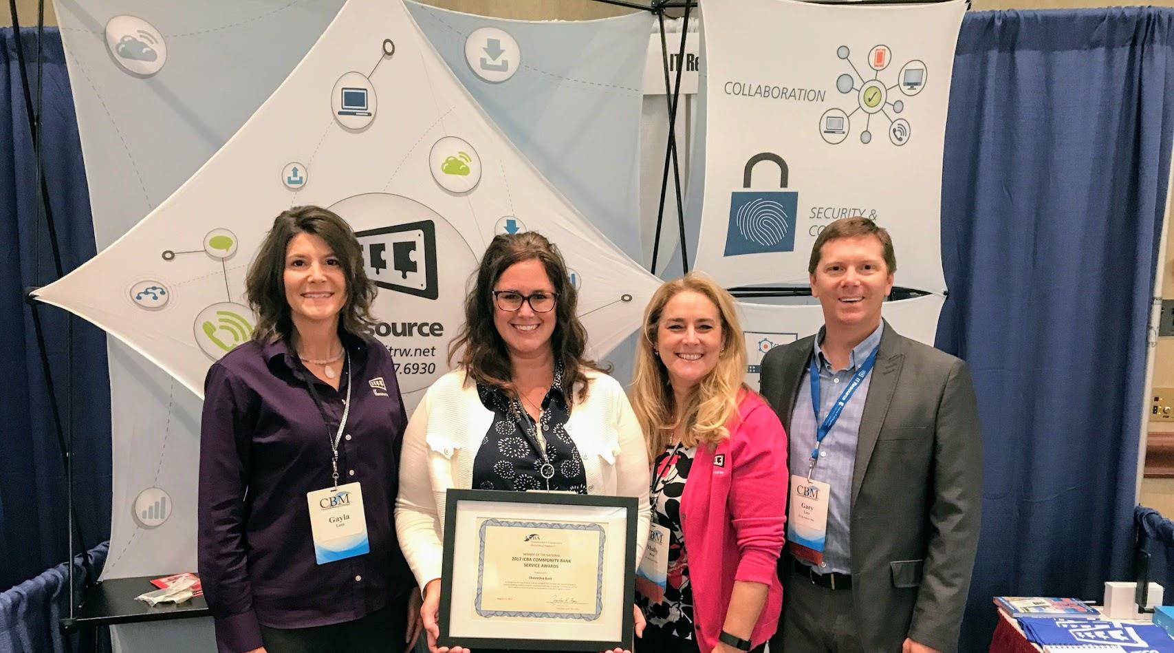 IT Resource - ChoiceOne Bank Award Photo - 03-01-2018