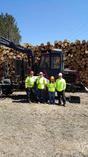 Left to right: Quality Tree Service of West Michigan Gene Towne, Greg Vincent (owner), Jillian Pezet, Dennis Vincent (owner)